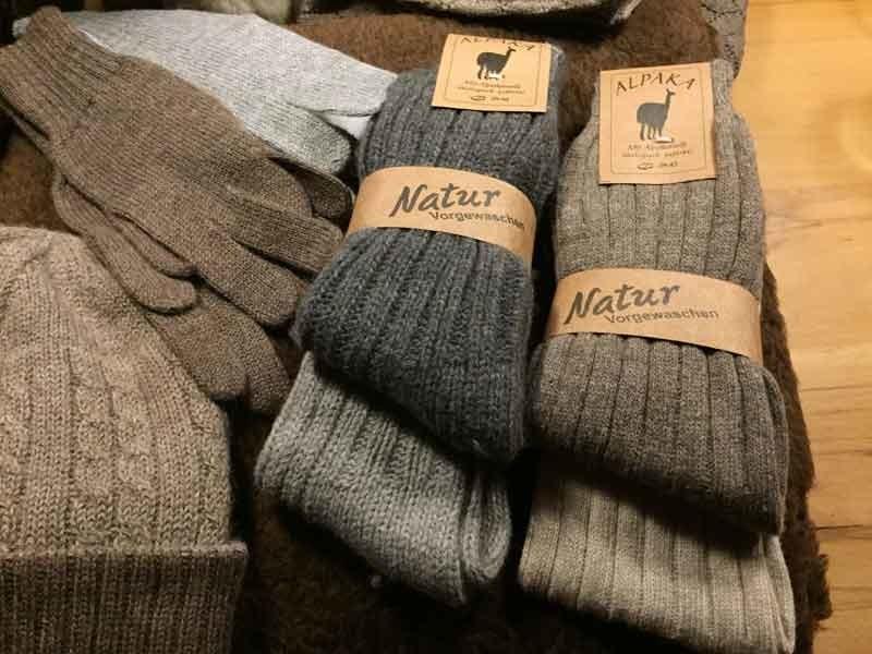 Warme Wintersocken aus Alpaka-Wolle