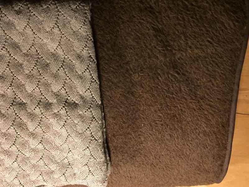 Unsere Decken aus Alpaka-Wolle